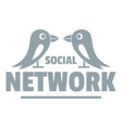 bird social network logo simple gray style vector image
