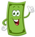 dollar cartoon vector image