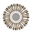 gray kitchen utensils icon image vector image