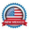 New Mexico and USA flag badge vector image