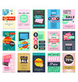 big collection flat hot sales banners vector image