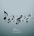 Musical notes design background vector image vector image