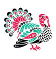 Happy Thanksgiving beautiful turkey tattoo symbol vector image vector image