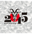 New year greeting card with goat vector image vector image