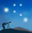starry sky vector image vector image