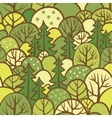 Background with summer trees vector image