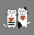 Couple of cat sketch for your design vector image