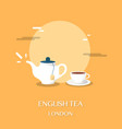 english tea at museum in london design vector image