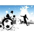 Grunge footballer vector image