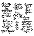 hew year 2018 hand drawn lettering vector image