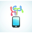 large selection of apps for your phone vector image