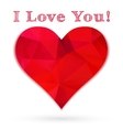 Love heart template vector image