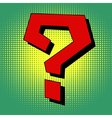 Question mark in pop art style vector image