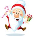 Santa Claus is looking forward to Christmas - vector image