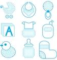 Set of babys symbols vector image