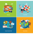 set of summer and travel flat design banner templa vector image