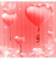 Striped Pink heart background vector image