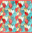 valentines pattern vector image