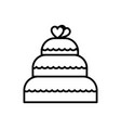 wedding cake line icon sign vector image