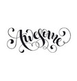 word awesome isolated vector image