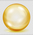 transparent yellow sphere with shadow vector image