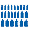 set of plastic bottle icons vector image