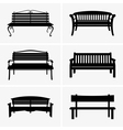 Benches vector image vector image