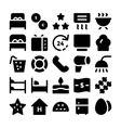 Hotel and Restaurant Icons 13 vector image