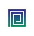 abstract square icon business logo vector image