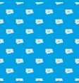circus show tickets pattern seamless blue vector image