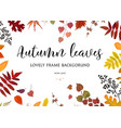floral watercolor style card design autumn border vector image