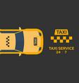 taxi service taxi car flat vector image