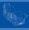 truck mixer sketch vector image