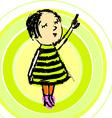 Young Girl Cartoon vector image