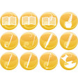 writing and painting icons on buttons vector image vector image