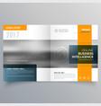stylish minimal yellow and blue theme magazine vector image