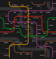 Fictional metro map seamless pattern vector image vector image