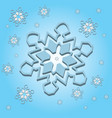 snowflake light 3d vector image