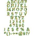 organic alphabet vector image