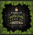 Merry Christmas Greeting Card With Ornaments vector image vector image