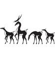 herd of deer vector image vector image