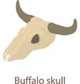 buffalo skull icon isometric 3d style vector image