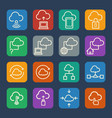 cloud computing icons set for internet and vector image