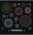 firework collections design background vector image