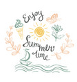 Hand drawn summer poster vector image