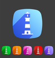 Lighthouse icon flat web sign symbol logo label vector image
