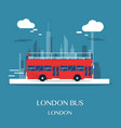 london bus at museum in english design vector image