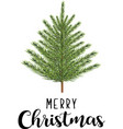 merry christmas fir tree vector image