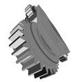 metal cog wheel vector image