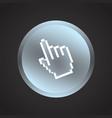 pointer button vector image